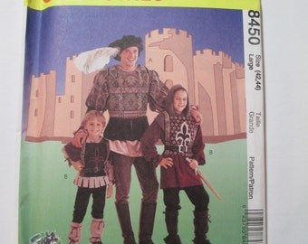 McCall's 8540 Men's & Kid's Medieval sewing pattern  ***size Large (42,44)***