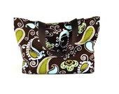 Small Fashion Tote, Grab & Go Tote, Brown Paisley Tote Bag, TOT10458
