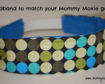 Headband to Match Your Mommy Moxie Maternity Delivery Gown - All Gown Patterns Available - Reversible - By Mommy Moxie on Etsy