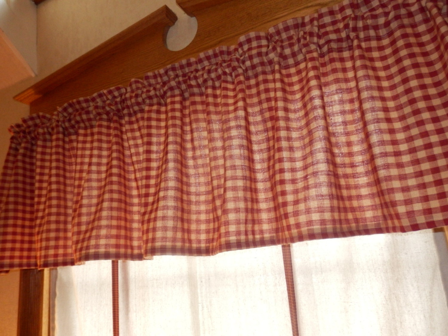 Primitive Country Curtain Valance in by KristinsCountryHome