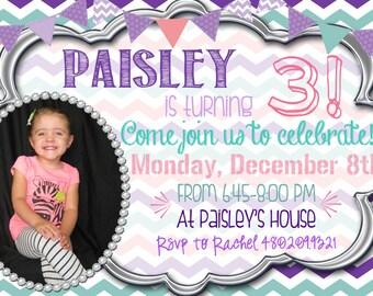 Adorable Customized Girl Birthday Invitation