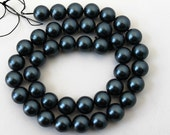 Blue Grey Shell Pearl Beads 10mm - 16 Inch Strand