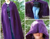 Crochet Full-length Cloak Pattern: PDF Pattern SCA, Faires, Goddess, LARP