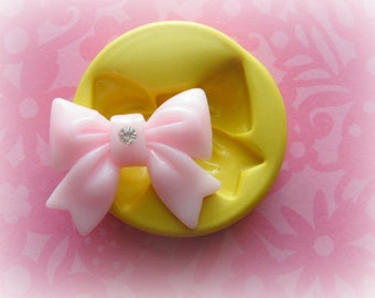 Silicone Bow Cabochon Mold For Fondant or PMC Polymer Clay Resin Cabochon Bow Mold
