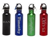 Personalized Water Bottles Stainless Steel Water Bottle Custom Engraved BPA Free Name-Eco-friendly Wedding Gift, Housewarming Gifts