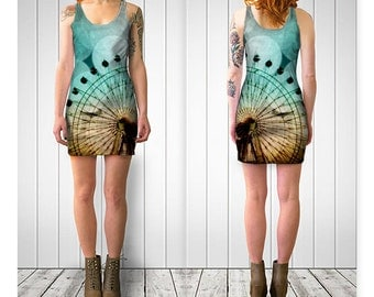 Women's Art Fitted or Flare Dress At the Fair fine art photography Ferris Wheel Fashion