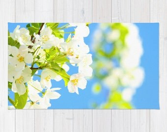 Art area Rug Bright Blooms fine art photography home decor