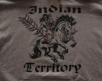 mens Indian Territory hooded sweatshirt