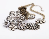 Crystal Bouquet Statement Necklace