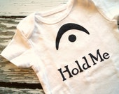 I'm a Fermata Hold Me (Black and White Onesie) - 3-6M Baby Bodysuit