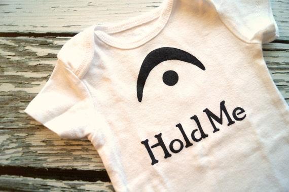I'm a Fermata Hold Me (Black and White Onesie) - 3-6M Baby Bodysuit