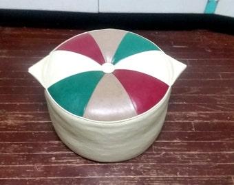 Vintage 1960's Pie Top Ottoman Vintage Footstool