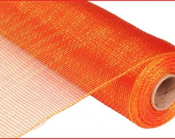 CLEARANCE - Red Gold Two Tone Poly Deco Mesh Roll RE100030