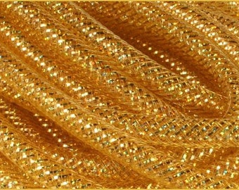 8MM Gold Laser Gold Foil RE3007E6,  Flex Tubing, Poly Mesh Supplies (10 Yards)