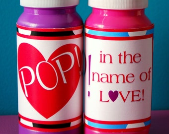 Valentine Bubble Wraps - Set of 12 - Pop! in the name of LOVE! - PRINTABLE