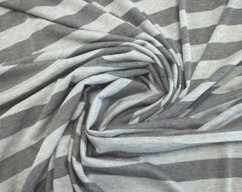 In Your Choice of 2 Colors - Wonderfully Soft Heather Stripe Jersey Knit Fabric