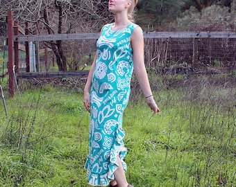 1950s Hawaiian Dress // Medium