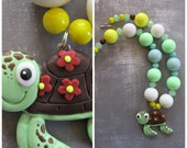 Turtle Crush, Finding Nemo chunky necklace, Nemo birthday party, Crush necklace