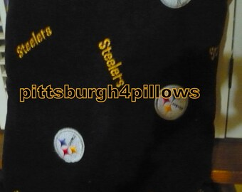 NFL - Pittsburgh Steelers Football - Embroidery Patches - Fleece Front - Fleece Backing - Read Below -  18 x 18 Before Finishing