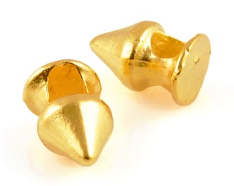 Casting-7x11mm Spike Bead-Gold-Quantity 5