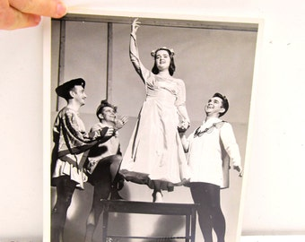 1940s 8x10 Black and White Photo, Vintage Play Actors Mid Century Photo, Stage Actors Black White Photo