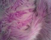 Lilac with a touch of White faux fur craft size LIMITED EDITION