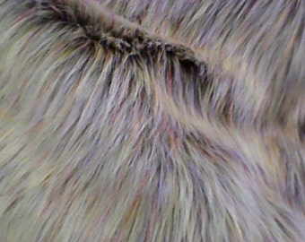 Beige with speckel colors Faux Fur CRAFT SIZE