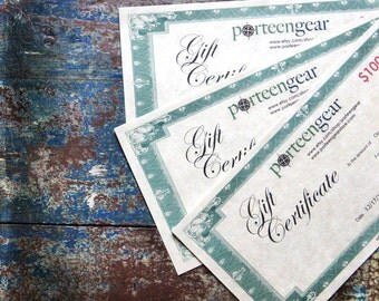 50.00 Gift Certificate Porteen Gear