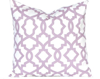 Lilac Pillow Covers, Purple Pillows, Trellis Pillow Cover, Purple Cushion Covers, Toss Pillows, Accent Pillow, Bed Pillows, Mauve Pillows