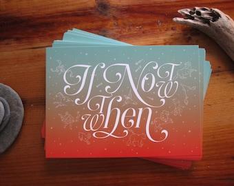 Fall Postcard Set of 20 Inspirational Message