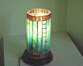 Stained Glass Mosaic Table Top Electric Lamp Accent Lamp Night Light Home Furnishing Lighting