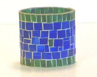 Stained Glass Mosaic Table Top Coffee Table End Table Shelf Decor Decorative Vase Candle Holder