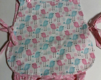 Baby Girl  Apron Top With Bloomers  Sizes  newborn to 24 months Pastel Birds