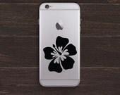 Hibiscus Vinyl iPhone Decal BAS-0286