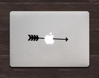 Arrow through the Apple Vinyl MacBook Decal BAS-0230