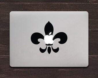 Fleur-de-Apple, Fleur-de-lis Vinyl MacBook Decal BAS-0267