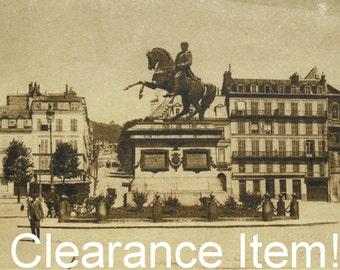 Unused Vintage French Postcard - Statue of Napoleon, Rouen, France (Clearance Item)
