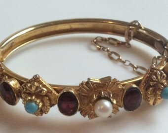 Florenza Gold Bracelet with Faux Garnets
