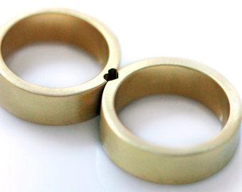 Gold heart wedding rings, promise ring, wedding ring set, gold wedding band, spring wedding, men wedding band,anniversary rings,love rings