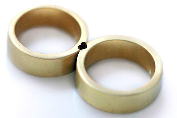 Gold heart wedding rings promise ring wedding ring set gold