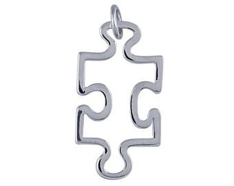 Sterling Silver Puzzle Piece Pendant