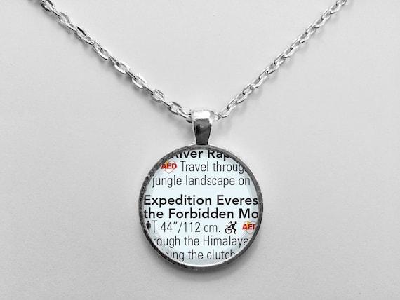 Expedition Everest Necklace from Walt Disney World Animal Kingdom Park Map