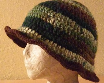 Green and Brown Floppy Hat