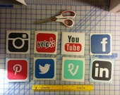 Social Media / Social Networking / Social Media / decals - double sided
