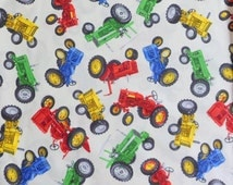 Tractor Fabric  Red Green Blue Yellow Tractor Fabric , Timeless Treasures