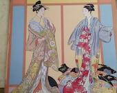 Vintage Ming-ju Sun Japanese Kimono Paper Dolls in Full Color Book Never Used 1986