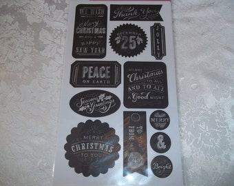 Christmas Chalkboard Stickers by American Craft