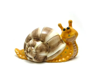 Vintage WCL ceramic snail, Garden decor