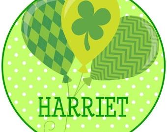 St. Patrick's Day Balloons Iron on