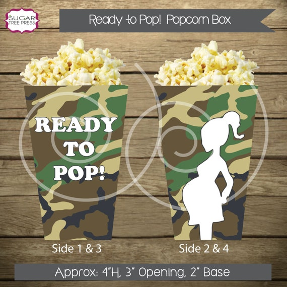 Items Similar To 24 Camo Ready To Pop Baby Shower Popcorn